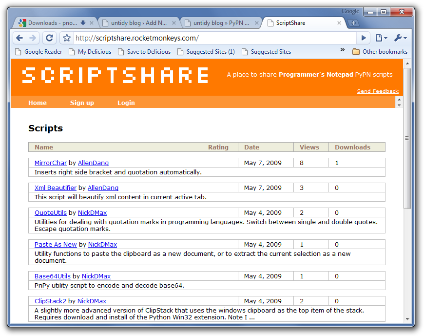 Scriptshare in Google Chrome