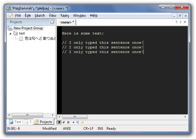 Programmer's Notepad 2.1 Pseudo-Localised Build